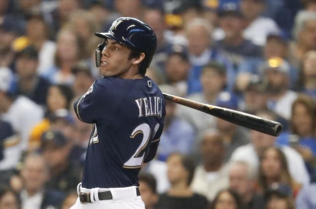 "How much of <a class=""link rapid-noclick-resp"" href=""/mlb/players/9320/"" data-ylk=""slk:Christian Yelich"">Christian Yelich</a>'s MVP season can be attributed to his move to Miller Park? (AP Photo/Jeff Roberson)"