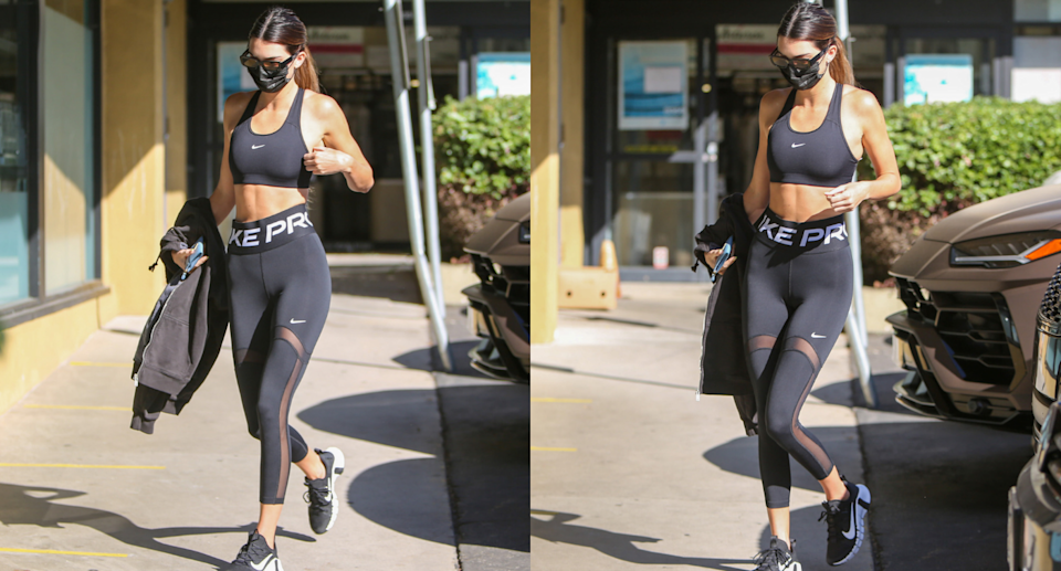 Kendall Jenner spotted flaunting Nike Pro leggings and sports bra