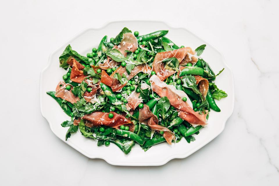 """<a href=""""https://www.bonappetit.com/recipe/pea-and-prosciutto-salad?mbid=synd_yahoo_rss"""" rel=""""nofollow noopener"""" target=""""_blank"""" data-ylk=""""slk:See recipe."""" class=""""link rapid-noclick-resp"""">See recipe.</a>"""