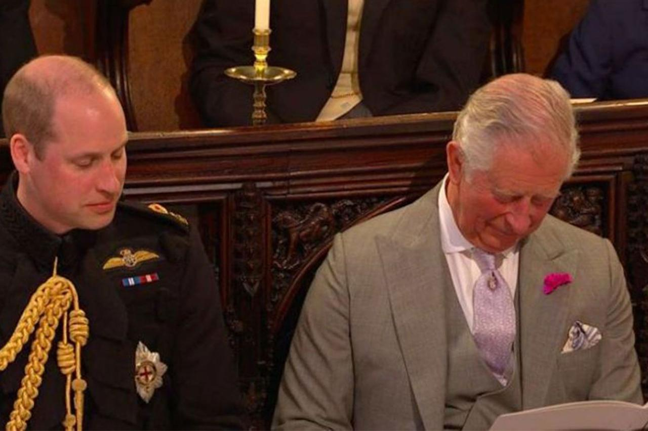 <p>It's not every day one of your sons gets married, but sometimes your eyes just need a rest. Prince Charles was caught by BBC cameras dozing off during Prince Harry and Megan Markle's wedding ceremony. </p>