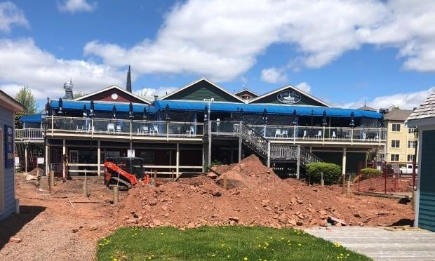 The work is scheduled to be completed by the end of June. (Kevin Yarr/CBC - image credit)