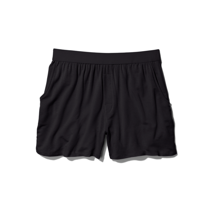 """Keep him extra comfy in these boxer-style lounge shorts (with pockets!) from Jambys. $35, Jambys. <a href=""""https://www.jambys.com/products/black-hibiscus"""" rel=""""nofollow noopener"""" target=""""_blank"""" data-ylk=""""slk:Get it now!"""" class=""""link rapid-noclick-resp"""">Get it now!</a>"""