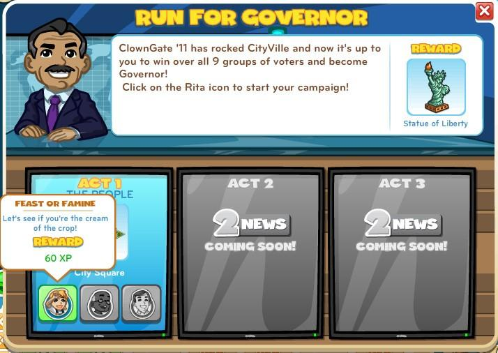 CityVille Run for Governor