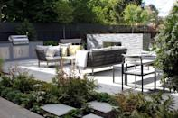 """<p>Polygonal paving was big at RHS Chelsea last year, but according to the Society of Garden Designers, 2018 is all about asymmetry. </p><p>""""Prepare to see a contemporary update on the <a rel=""""nofollow noopener"""" href=""""http://www.housebeautiful.co.uk/garden/designs/a1839/garden-design-trends-2017-insights/"""" target=""""_blank"""" data-ylk=""""slk:classic crazy paving"""" class=""""link rapid-noclick-resp"""">classic crazy paving</a> with large-scale natural indigenous stone"""", says Cassandra Crouch MSGD. Gardens will also feel less structured, as geometric lines and hard surfaces are softened by planting, and edges are broken down to create the feeling of a garden that has been there for years.</p>"""