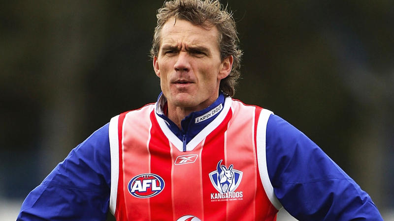 Dean Laidley, pictured here during a North Melbourne training session in 2008.