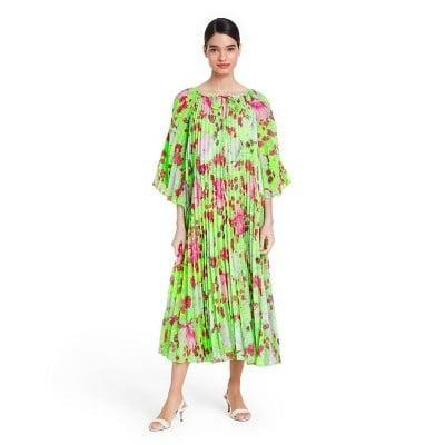 <p>This <span>Christopher John Rogers Floral Pleated Dress</span> ($60) makes for an eye-catching vibrant ensemble.</p>