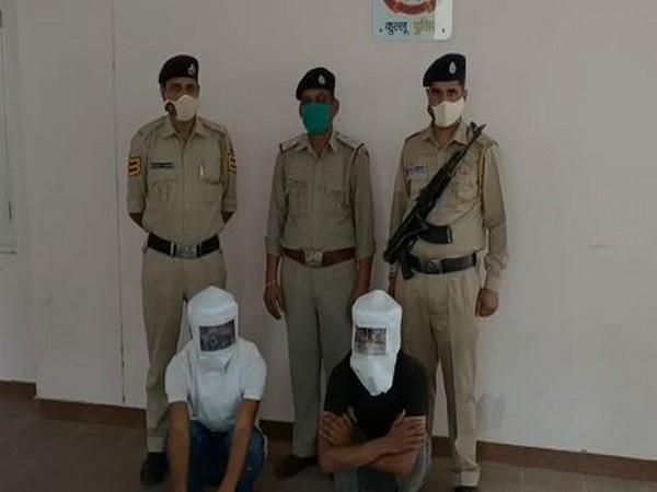Himachal police recover 3.244 kg charas during surprise checking, arrests 2. (Photo/ANI)