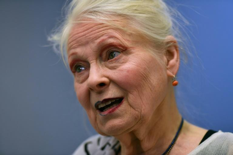 British designer Vivienne Westwood, seen in 2017, has joined the Oxfam charity's Second Hand September campaign to encourage fashion sustainability