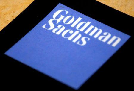 The logo of Goldman Sachs is displayed in their office located in Sydney
