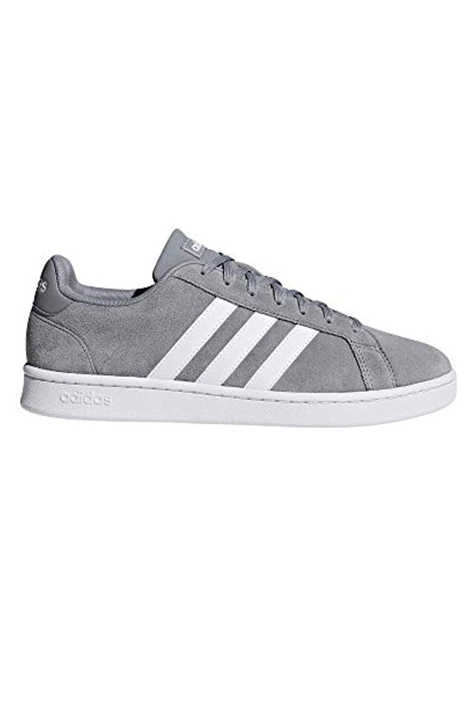 """<p><strong>Adidas</strong></p><p>amazon.com</p><p><strong>$72.38</strong></p><p><a href=""""https://www.amazon.com/dp/B07D9HWVVY?tag=syn-yahoo-20&ascsubtag=%5Bartid%7C10051.g.13053688%5Bsrc%7Cyahoo-us"""" rel=""""nofollow noopener"""" target=""""_blank"""" data-ylk=""""slk:Shop Now"""" class=""""link rapid-noclick-resp"""">Shop Now</a></p><p>If you're shopping for a boyfriend who's an amazing person but just not the best dresser, start with his shoes. Prince Harry has been photographed in a similar pair (Sdidas's Gazelle trainer) in a similar grey, suede color on countless occasions. This color looks sharp with everything.</p>"""