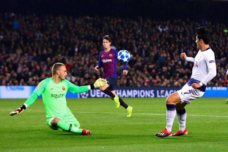 Cillessen denied Son, among others, at the Camp Nou on Wednesday. (Getty Images)
