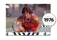 Famously, Bruce Jenner (now Caitlyn Jenner) lead the U.S. team in a colorful uniform, comprised of a red tank top, blue shorts, and white piping. (Getty Images)