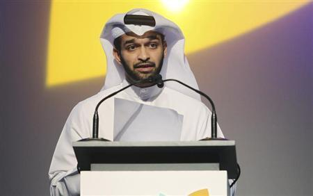 2022 FIFA World Cup Qatar Supreme Committee Secretary-General Hassan Al-Thawadi speaks during the opening of the International Sport Security Conference in Doha, March 14, 2012. REUTERS/Stringer