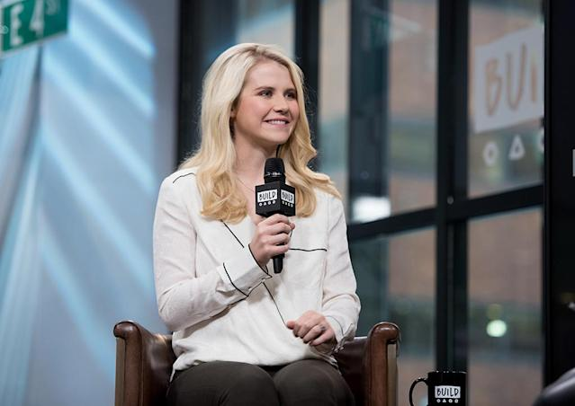 "Elizabeth Smart discusses ""Elizabeth Smart: Autobiography"" at Build Studio on Nov. 10, 2017 in New York. (Photo by Noam Galai/WireImage)"