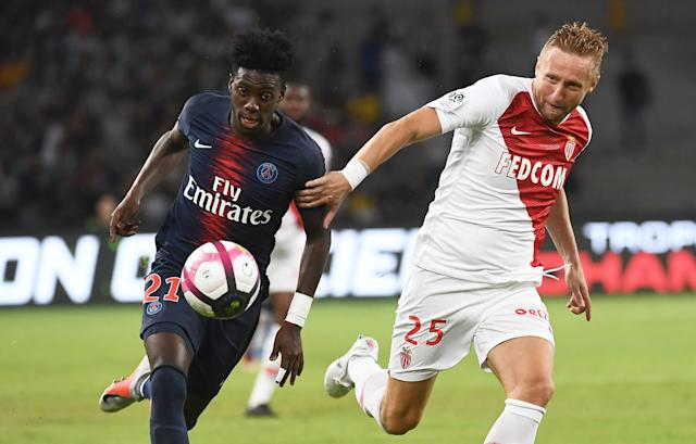 Tim Weah scored for PSG against Monaco in the French Trophee des Champions. (Getty)