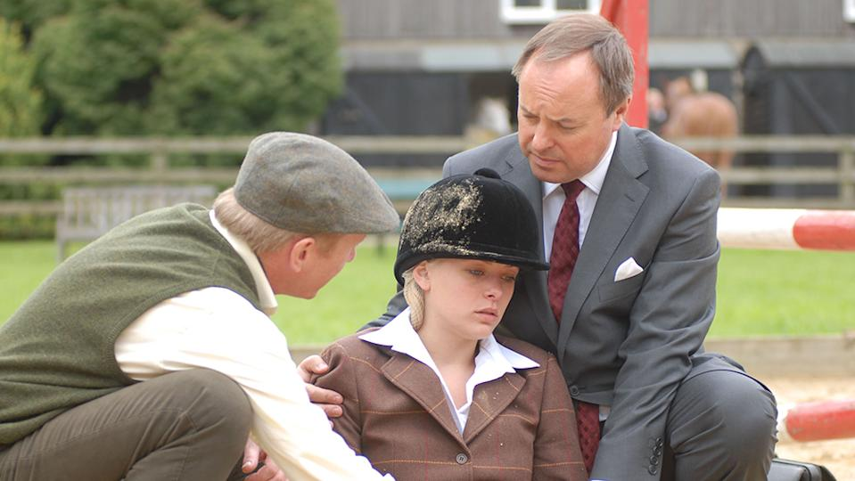 Editorial use onlyMandatory Credit: Photo by ITV/Shutterstock (1140398bv) Episode 4 Slings and Arrows Pictured Dr Ormerod (Robert Daws), Estelle Bayliss (Rachel Warren) and Aiden Bayliss (Mark Noble) 'The Royal' TV Series 7 Series 7