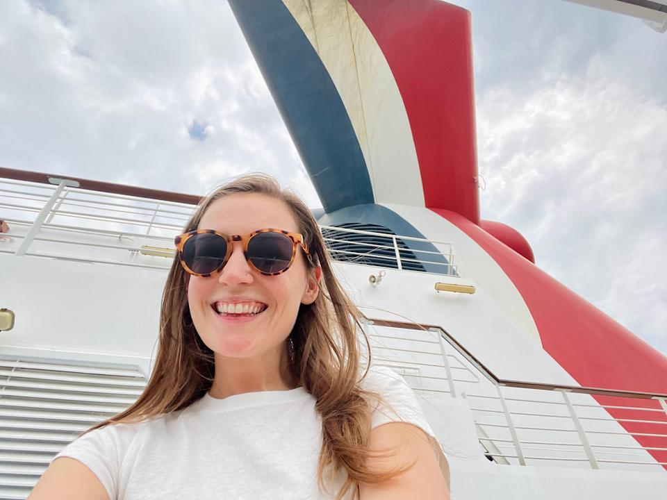 A selfie of the author onboard the Carnival Vista cruise ship.