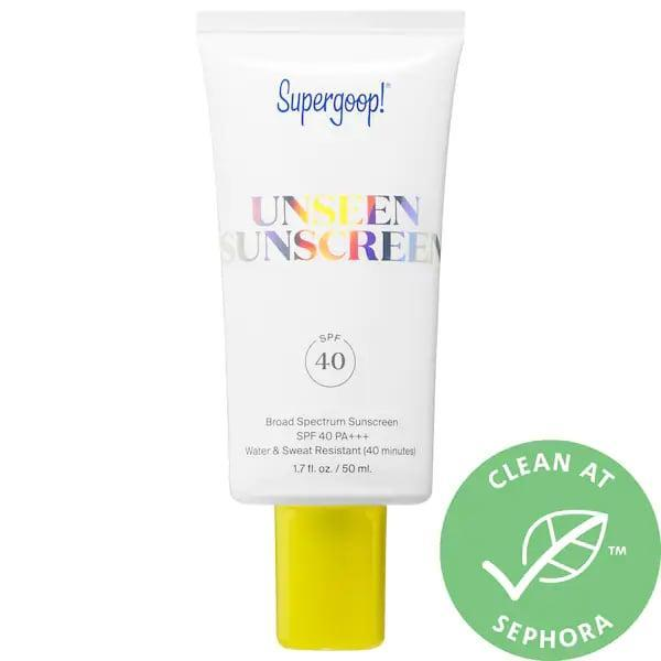 <p>If you've ever been irritated by sunscreen that leaves a chalky white finish on your skin, this <span>Supergoop! Unseen Sunscreen SPF 40</span> ($34-$44) is a clear standout. Not only does this bestseller have none of that, it also guards against blue light (from phones and computers) and preps for your face for makeup as well.</p>