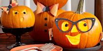 "<p>Nothing says ""Happy <a href=""https://www.womansday.com/halloween/"" rel=""nofollow noopener"" target=""_blank"" data-ylk=""slk:Halloween"" class=""link rapid-noclick-resp"">Halloween</a>"" like a collection of carved pumpkins, arranged ever so perfectly on a porch or windowsill. And this year, with Halloween festivities being limited due to COVID-19, pumpkin carving is one of the few <a href=""https://www.womansday.com/life/a34112053/halloween-2020-trick-or-treating-cdc-guidelines/"" rel=""nofollow noopener"" target=""_blank"" data-ylk=""slk:activities that has earned the Centers for Disease Control's approval"" class=""link rapid-noclick-resp"">activities that has earned the Centers for Disease Control's approval</a>. So why not go all out with your pumpkin carving ideas? After all, if you can only do one Halloween activity, you might as well give it 100 percent. </p><p>From goofy faces to glamorous witches, these pumpkin carving ideas will take your <a href=""https://www.womansday.com/home/decorating/g1279/easy-halloween-decorations/"" rel=""nofollow noopener"" target=""_blank"" data-ylk=""slk:Halloween decoration"" class=""link rapid-noclick-resp"">Halloween decoration</a> game to another level. And no, you don't have to be a master of the <a href=""https://www.amazon.com/gp/slredirect/picassoRedirect.html/ref=pa_sp_atf_aps_sr_pg1_1?ie=UTF8&adId=A09795252HHAZ8PN5A6MF&url=%2FGoStock-Pumpkin-Stainless-Halloween-Lanterns%2Fdp%2FB08B3DJ921%2Fref%3Dsr_1_1_sspa%3Fdchild%3D1%26gclid%3DCjwKCAjwiaX8BRBZEiwAQQxGx82CFHjCuvfi8iWw_Yxo446nu98wifZVsltQim5t-ZZwlRG4YsB07hoCOfAQAvD_BwE%26hvadid%3D174226763258%26hvdev%3Dc%26hvlocphy%3D9067609%26hvnetw%3Dg%26hvqmt%3De%26hvrand%3D13888871149274909059%26hvtargid%3Dkwd-35580891%26hydadcr%3D24656_9648981%26keywords%3Dpumpkin%2Bcarving%2Bkit%26qid%3D1602873989%26sr%3D8-1-spons%26tag%3Dgooghydr-20%26psc%3D1&qualifier=1602873989&id=6676273619141672&widgetName=sp_atf"" rel=""nofollow noopener"" target=""_blank"" data-ylk=""slk:carving kit"" class=""link rapid-noclick-resp"">carving kit</a> to bring these ideas to life. Some are easy as carving holes into your <a href=""https://www.womansday.com/home/decorating/a56701/how-to-make-pumpkins-last-longer/"" rel=""nofollow noopener"" target=""_blank"" data-ylk=""slk:pumpkin"" class=""link rapid-noclick-resp"">pumpkin</a>. So gather your gear, your gourds, and your quaranteam, and settle in for a fall-filled day. </p><p><em>Note: This year, <a href=""https://www.womansday.com/life/g2664/halloween-safety-tips"" rel=""nofollow noopener"" target=""_blank"" data-ylk=""slk:Halloween safety"" class=""link rapid-noclick-resp"">Halloween safety</a> is more important than ever. Make sure to read the<a href=""https://www.womansday.com/life/a34112053/halloween-2020-trick-or-treating-cdc-guidelines/"" rel=""nofollow noopener"" target=""_blank"" data-ylk=""slk:2020 trick-or-treating guidelines"" class=""link rapid-noclick-resp"">2020 trick-or-treating guidelines</a> from the Centers for Disease Control and Prevention. </em><br></p>"