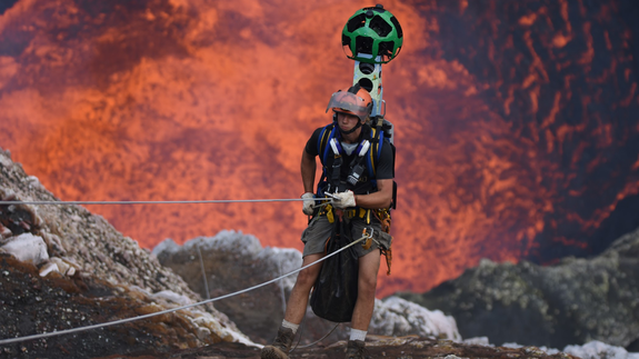 Google Street View goes into the belly of a volcano