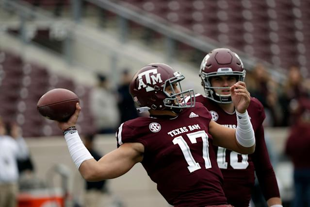 Texas A&M quarterback Nick Starkel is with another SEC team for 2019. (AP Photo/David J. Phillip)