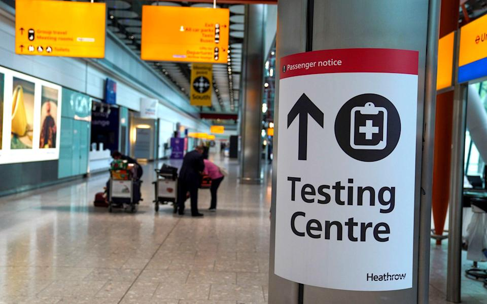 Testing centre at airport - Steve Parsons