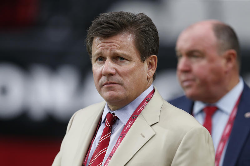"Arizona Cardinals owner Michael Bidwill called his coronavirus battle an ""awful experience."" (AP/Ralph Freso)"
