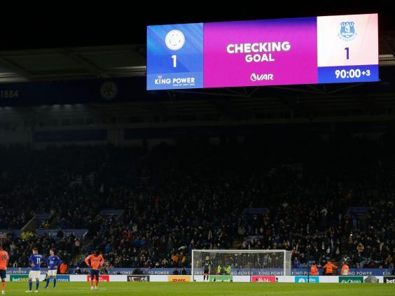 The intervention of VAR saw a dramatic finish at the King Power Stadium (Getty)