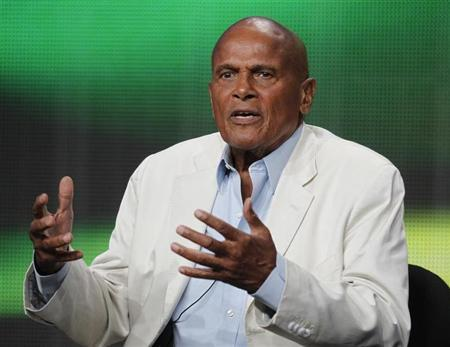 Singer, actor and activist Harry Belafonte speaks during a session about a documentary on his life 'Sing Your Song' during the HBO session at the 2011 Summer Television Critics Association Cable Press Tour in Beverly Hills