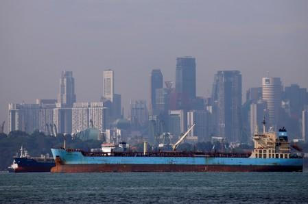 Refile: Singapore fuel inventories hit eight-month low ahead