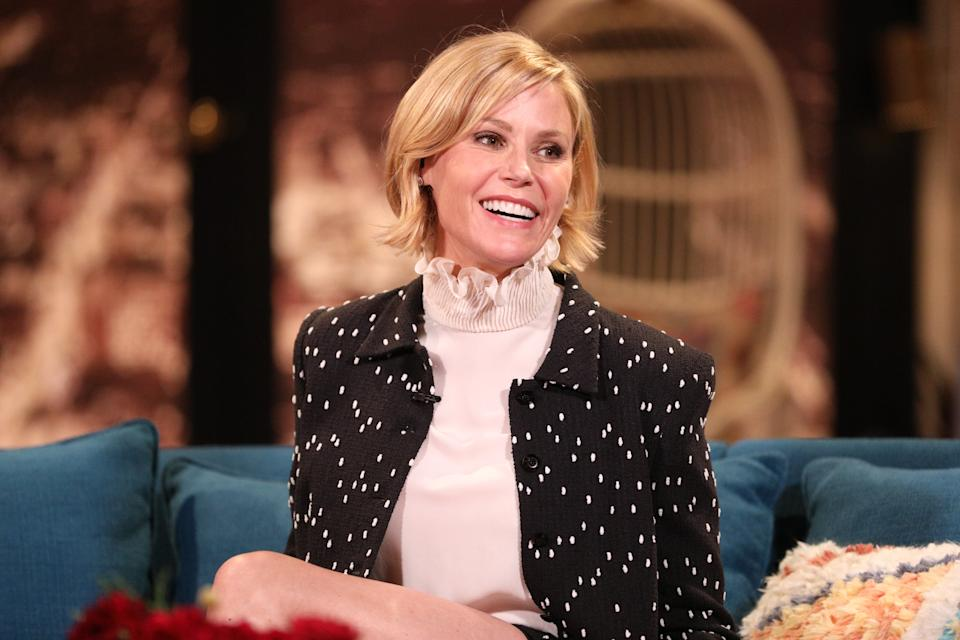 BUSY TONIGHT -- Episode 129 -- Pictured: Julie Bowen on the set of Busy Tonight -- (Photo by: Jordin Althaus/E! Entertainment/NBCU Photo Bank/NBCUniversal via Getty Images)