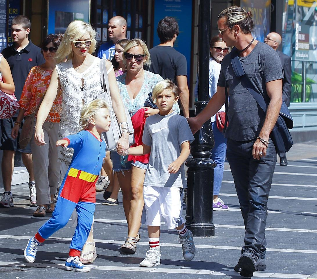 Gwen Stefani and Gavin Rossdale son Zuma had a truly super 5th birthday, donning a Superman costume – and pretending to take flight – while out with his family in London. (8/21/2013)