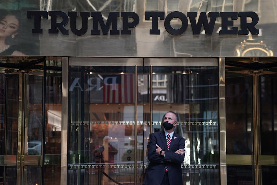 Trump Tower is pictured in the Manhattan borough of New York City, New York, U.S., September 28, 2020.  REUTERS/Carlo Allegri