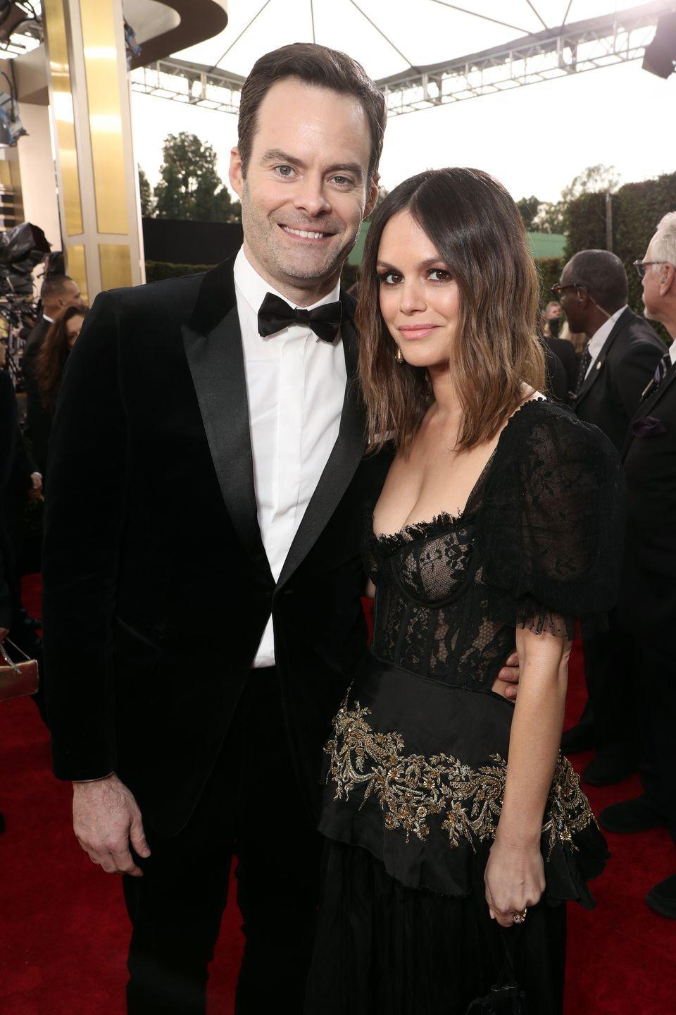 "<p>Rumors of their relationship began in December 2019 with a seemingly random <a href=""https://www.elle.com/culture/celebrities/a30313822/bill-hader-rachel-bilson-relationship-rumors/"" rel=""nofollow noopener"" target=""_blank"" data-ylk=""slk:outing at a Starbucks"" class=""link rapid-noclick-resp"">outing at a Starbucks</a> in Tulsa, Oklahoma (Hader's hometown). The following month, they made it red carpet official by <a href=""https://www.elle.com/culture/celebrities/a30406810/bill-hader-rachel-bilson-golden-globes-red-carpet-debut/"" rel=""nofollow noopener"" target=""_blank"" data-ylk=""slk:attending the Golden Globes"" class=""link rapid-noclick-resp"">attending the Golden Globes</a> together. Bilson and Hader originally met as love interests in 2013's <em>The To Do List</em> (which was directed by Hader's now-ex wife, Maggie Carey). But not much is known about their current relationship. Hader's <em>Barry </em>co-star Henry Winkler <em>did</em> give his seal of approval during a recent interview with <em><a href=""https://people.com/tv/henry-winkler-approves-bill-hader-wonderful-girlfriend-rachel-bilsons-relationship/"" rel=""nofollow noopener"" target=""_blank"" data-ylk=""slk:People"" class=""link rapid-noclick-resp"">People</a></em><em>, </em>referring to Bilson as Hader's ""wonderful girlfriend.""</p>"