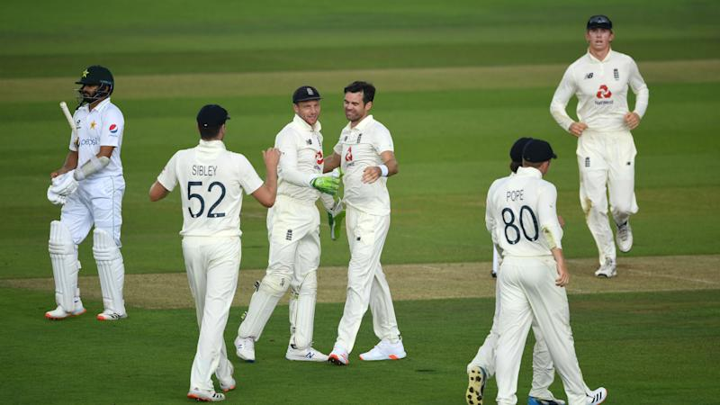 Anderson strikes twice as England edge weather-affected first day