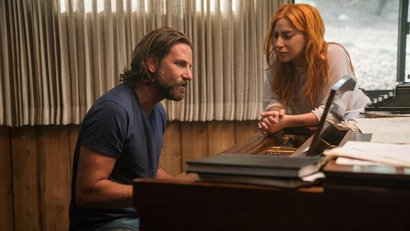Cooper and Gaga in A Star Is Born