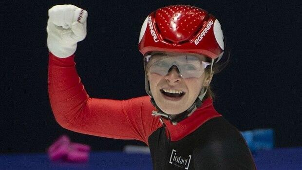 Kim Boutin wins 4th career short track World Cup gold in 500 metres