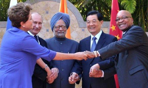 BRICS presidents pose for a group picture