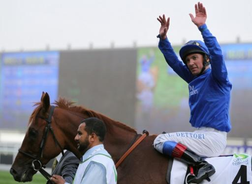 Frankie Dettori came close to winning in the Godolphin colours in his first ride for them since they split in 2012
