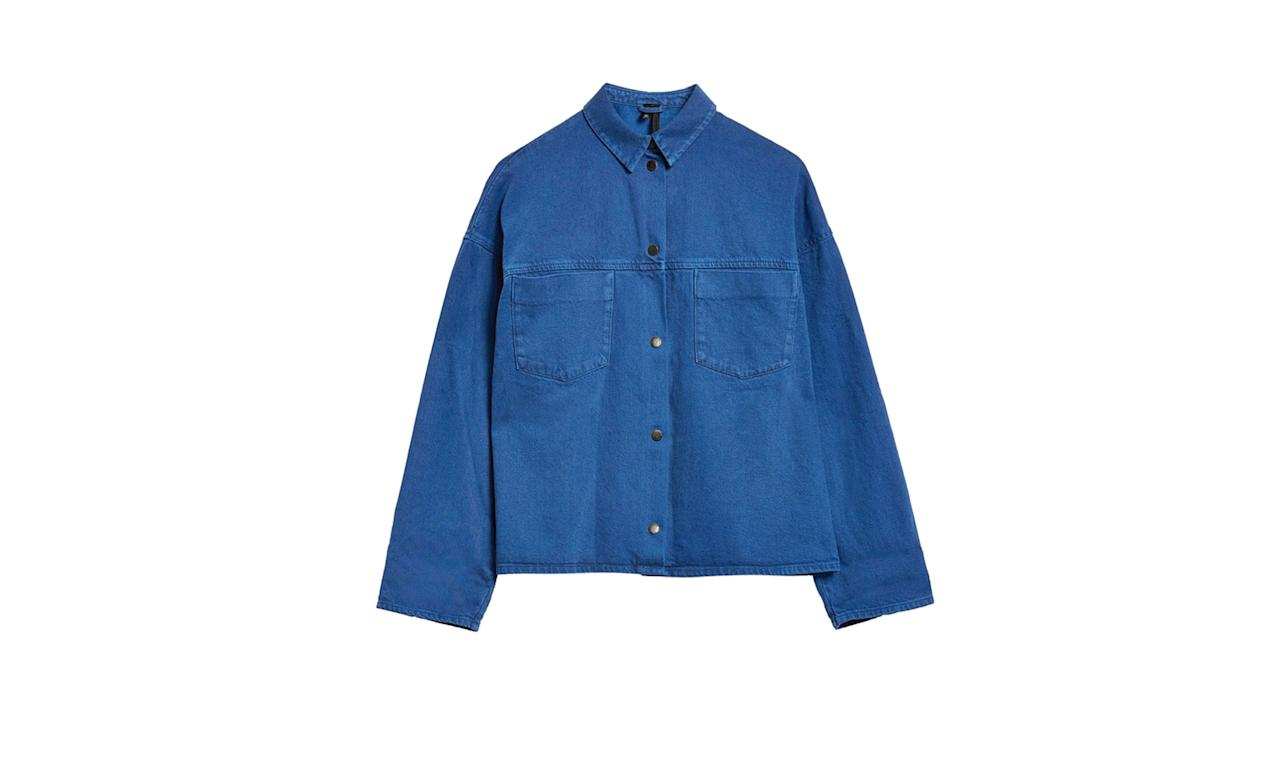 "<p>Cobalt Popper Shacket, $100,<a rel=""nofollow"" href=""http://us.topshop.com/en/tsus/product/clothing-70483/jackets-coats-2390895/cobalt-popper-shacket-by-boutique-7645185?bi=20&ps=20""> topshop.com</a> </p>"