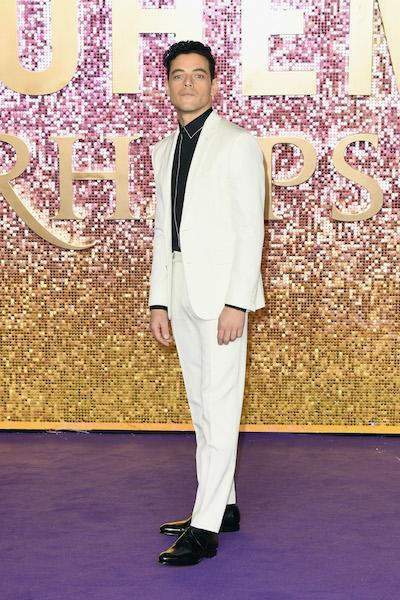<p>Actor Rami Malek looked dapper in a cream two-piece suit for the London premiere of 'Bohemian Rhapsody' on October 23. <em>[Photo: Getty]</em> </p>