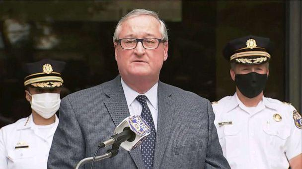 PHOTO: Philadelphia Mayor Jim Kenney speaks during a press conference on June 25, 2020, about an incident during the George Floyd protests on June 1, in which police fired tear gas. (WPVI)