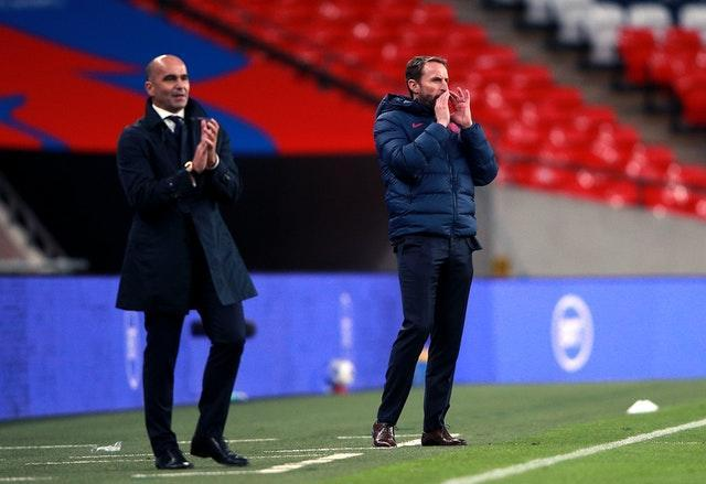 Belgium boss Roberto Martinez and England's Gareth Southgate will meet on the touchline for the fourth time.