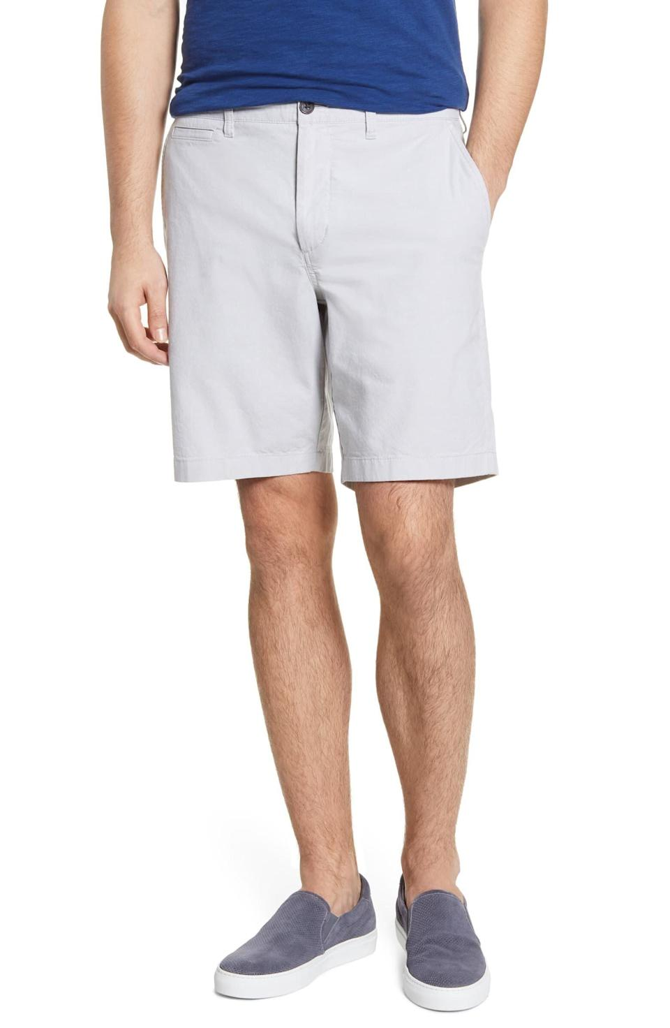 "Normally $60, find these <a href=""https://fave.co/31Zeesv"" rel=""nofollow noopener"" target=""_blank"" data-ylk=""slk:1901 Ballard Slim Fit Stretch Chambray Shorts"" class=""link rapid-noclick-resp"">1901 Ballard Slim Fit Stretch Chambray Shorts</a> on <a href=""https://fave.co/31Zeesv"" rel=""nofollow noopener"" target=""_blank"" data-ylk=""slk:sale for $22 from Nordstrom"" class=""link rapid-noclick-resp"">sale for $22 from Nordstrom</a>."