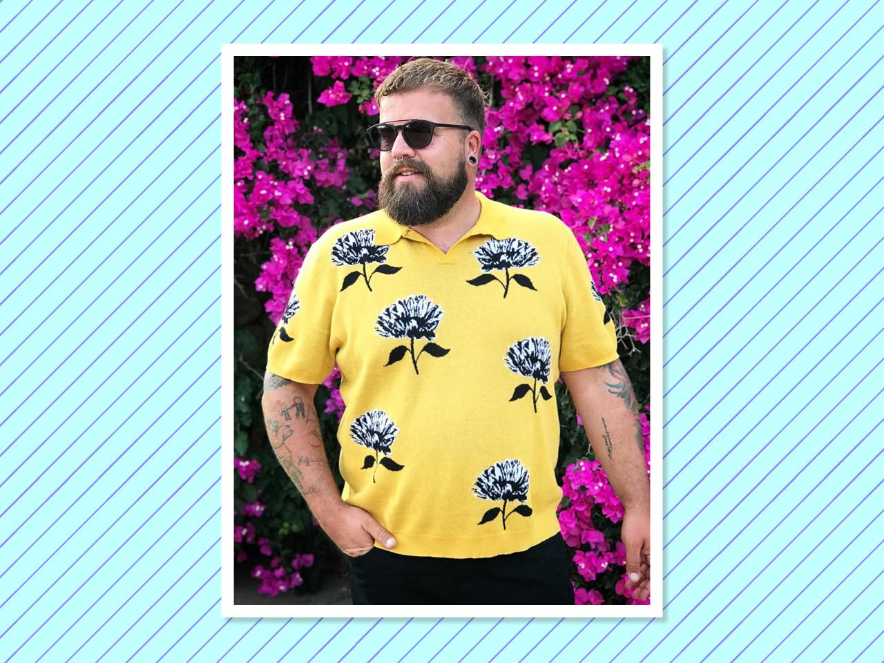 """<p></p><p>Hailing from Germany, <a rel=""""nofollow"""" href=""""https://www.instagram.com/extra_inches_plussizeblog/"""">Fleissner</a> is always serving up relaxed, colorful looks with the perfect hipster edge. (Photo: Claus Fleissner) </p><p></p>"""