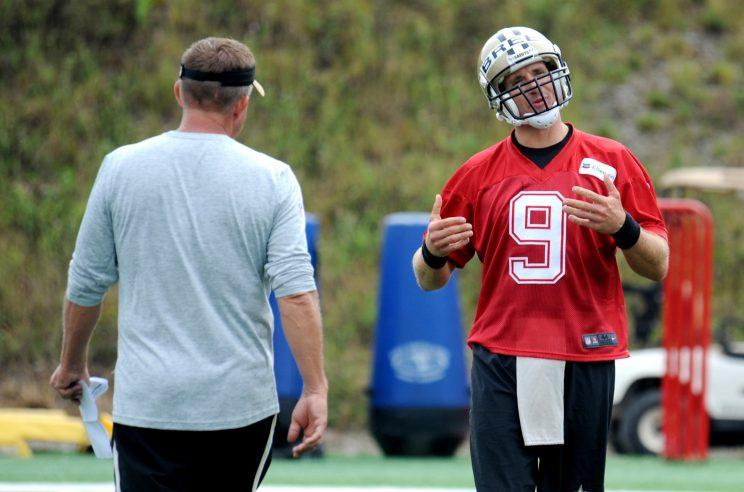 Drew Brees and Sean Payton will try to get the Saints back to the playoffs for the first time since 2013. (AP)