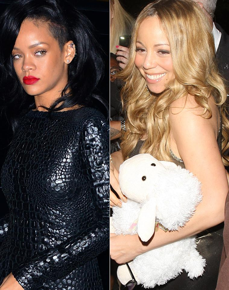 "Mariah Carey is trying to ""save"" Rihanna ""before she self-destructs,"" reveals <i>Star.</i> The mag says the younger singer is ""headed for rehab,"" and Carey is desperately trying to intervene because ""she sees a lot of herself in Rihanna."" For the surprising proposal she made to help Rihanna, check out what a Carey insider exclusively leaks to <a target=""_blank"" href=""http://www.gossipcop.com/mariah-carey-helping-rihanna-move-in-record-songs-duet-partying-chris-brown/"">Gossip Cop</a>."