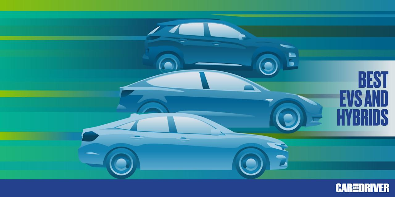 """<p>The <a href=""""https://www.caranddriver.com/ev/"""" target=""""_blank"""">electric</a> revolution hasn't arrived with the ferocity predicted by futurists the world over, but we're still seeing some pretty big leaps in range, performance, and style with the introduction of each <a href=""""https://www.caranddriver.com/shopping-advice/g32463239/new-ev-models-us/"""" target=""""_blank"""">new electric vehicle</a>. It's a promising sign of things to come, and one that gives shoppers a wide variety of choices. All of the best EVs provide enough range for use as a daily driver, while offering features and technology that didn't even exist a few years ago. It's an exciting new segment in the automotive industry, and the list below highlights our top picks for the best hybrids, the best plug-in hybrids, and the best pure EVs available of 2020.</p><p>Those who are interested in the best EVs and hybrids from 2019 can <a href=""""https://www.caranddriver.com/features/g32853293/best-hybrid-electric-cars-2019/"""" target=""""_blank"""">refer to last year's list</a>.<br></p>"""