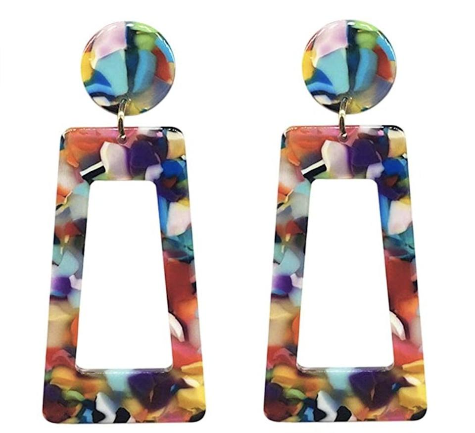 <p>We love all the colors of these <span>Cibirich Acrylic Earrings</span> ($6).</p>