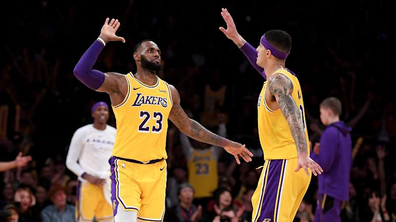 LeBron James reacts to critical comments from Kyle Kuzma's trainer